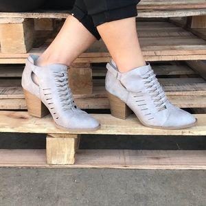 Shoes - 😍Restock ❗️Woven Ankle Bootie Light Grey